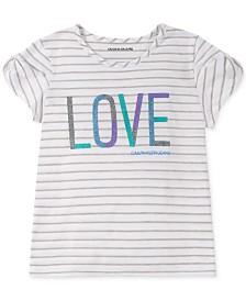 Calvin Klein Big Girls Graphic-Print Twist-Sleeve T-Shirt