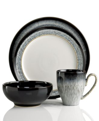 Denby Dinnerware Halo 4 Piece Place Setting  sc 1 st  Macy\u0027s : dinnerware place settings - pezcame.com