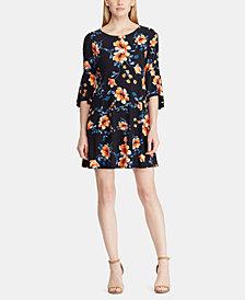 Lauren Ralph Lauren Petite Floral-Print Bell-Sleeve Dress