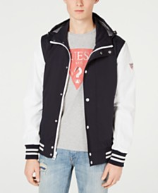 a0c31aac83 GUESS Men s Lightweight Seersucker Colorblocked Jacket