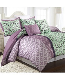 Abigail Reversible 5-Piece Full/Queen Comforter Set