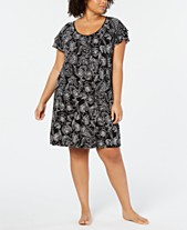 e0b88736243 Charter Club Plus-Size Flutter-Sleeve Soft Knit Nightgown