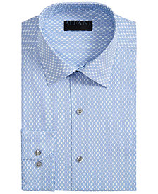 Alfani Men's Classic-Fit AlfaTech Honeycomb Shirt, Created for Macy's