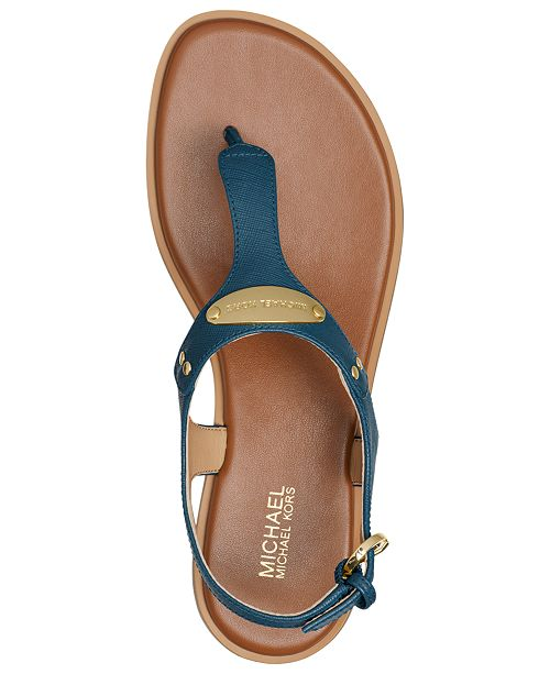 d987cec9df70f3 Michael Kors MK Plate Flat Thong Sandals   Reviews - Sandals   Flip ...