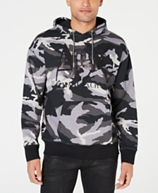 A|X Armani Exchange Men's Camo Logo Hoodie