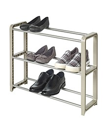 Neatshoe Stackable 3-Tier Adjustable Shoe Rack