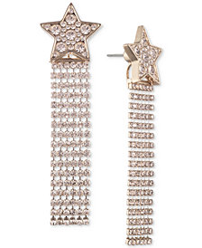 Givenchy Gold-Tone Crystal Shooting Star Front-and-Back Earrings