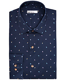 Bar III Men's Regular-Fit Stretch Floral-Print Dress Shirt, Created for Macy's