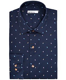 Bar III Men's Slim-Fit Stretch Floral-Print Dress Shirt, Created for Macy's