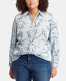 Lauren Ralph Lauren Plus Size Print Top
