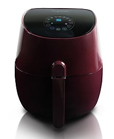 MegaChef 3.5 Quart Air-Fryer and Multi-Cooker with 7 Pre-Programme Settings in Burgundy