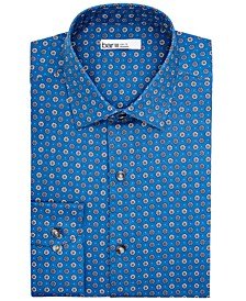 Men's Slim-Fit Performance Stretch Daisy Dot Dress Shirt, Created for Macy's