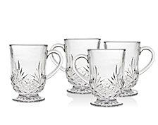 Godinger Dublin Set of 4 10oz Coffee Mugs