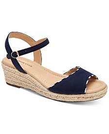 Charter Club Lucia Platform Wedge Sandals, Created for Macy's