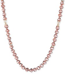 """Anne Klein Gold-Tone Stone Bead 42"""" Statement Necklace, Created for Macy's"""