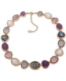 """Gold-Tone Multi-Stone Collar Necklace, 16"""" + 3"""" extender"""