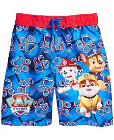 PAW Patrol Little Boys Paw Patrol Graphic Swim Trunks