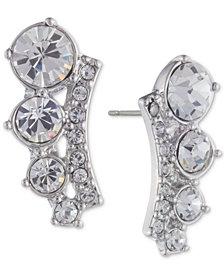Givenchy Silver-Tone Crystal Climber Earrings