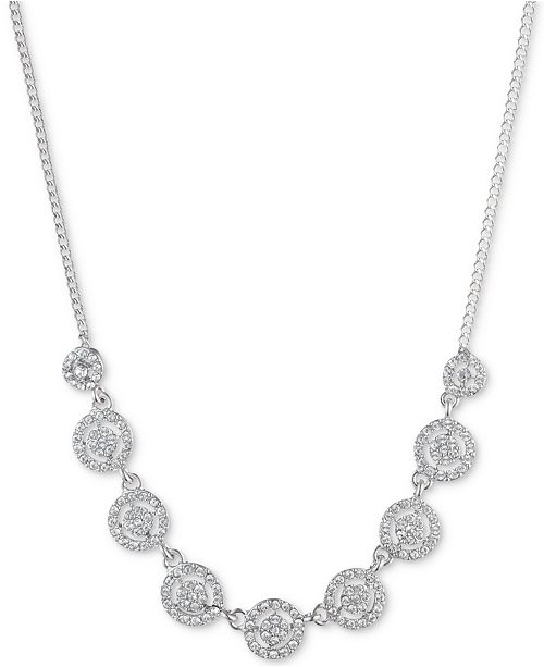 """Givenchy Crystal Halo Collar Necklace, 16"""" + 3"""" extender"""