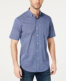 Men's Texture Check Stretch Cotton Shirt, Created for Macy's