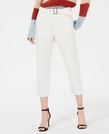 Line & Dot Victory Cropped Front-Seam Pants