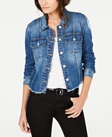 I.N.C. Destructed Trucker Jean Jacket, Created for Macy's