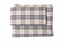 Flannel Plaid Sheet Set California King