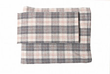 Flannel Plaid Sheet Set California King