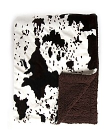Sleeping Partners Cowhide Double Layer Throw Blanket