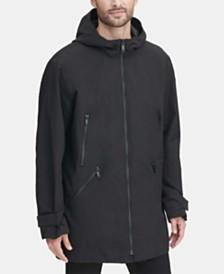 DKNY Men's 3/4-Length Hooded Rain Coat, Created for Macy's