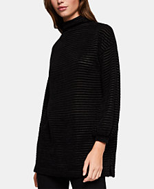 BCBGeneration Funnel-Neck Velour Tunic