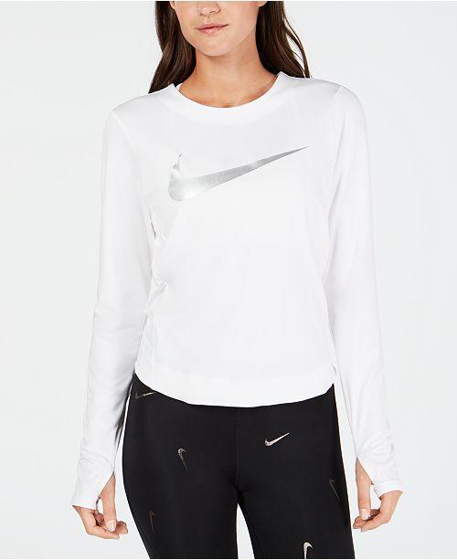 Nike Dry Element Metallic-Logo Running Top