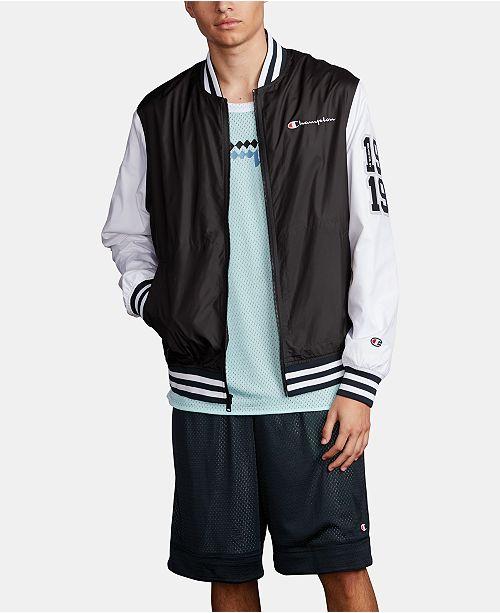 Champion Men's Colorblocked Satin Bomber Jacket