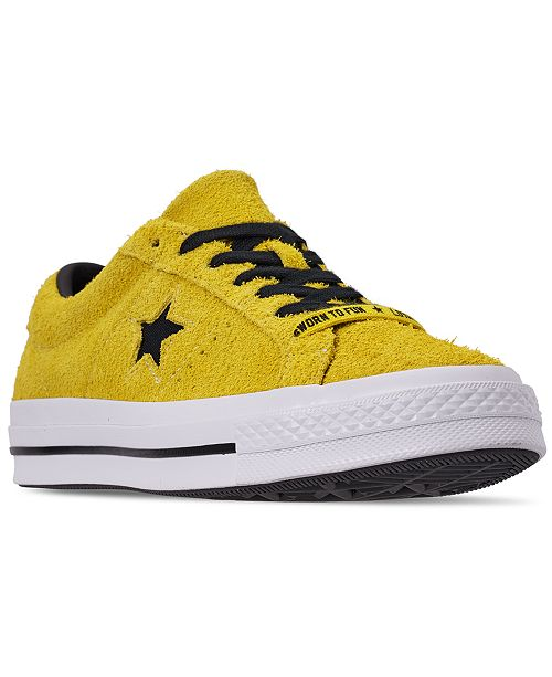 ca60292714b8cd ... Converse Men s Chuck Taylor One Star Dark Vintage Suede Casual Sneakers  from Finish ...