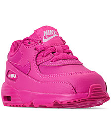 Nike Toddler Girls' Air Max 90 Leather Running Sneakers from Finish Line