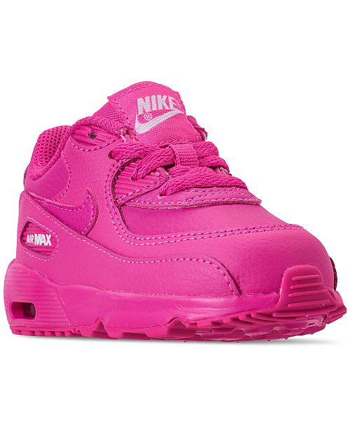 b4cb3445a824 ... Nike Toddler Girls  Air Max 90 Leather Running Sneakers from Finish Line  ...