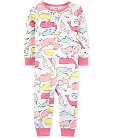 Carter's Cotton Footless Pajamas with a Whale Print