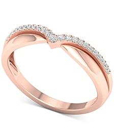 Diamond (1/10 ct. t.w.) Anniversary Band in 14k Rose Gold