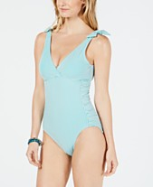 a304b201e4c33 Lauren Ralph Lauren Seersucker Tummy-Control Underwire One-Piece Swimsuit