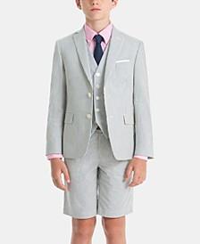 Little & Big Boys Cool Cotton Suit Jacket, Vest & Pants Separates