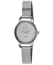 Women's Quartz Stainless Steel Mesh Bracelet Watch 26mm