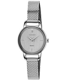 Citizen Women's Quartz Stainless Steel Mesh Bracelet Watch 26mm