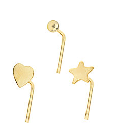 Bodifine 9 Carat Gold Set of 3 Nose Studs