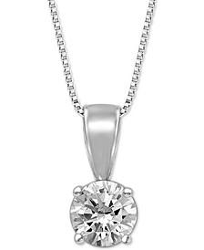 """Diamond Solitaire 18"""" Pendant Necklace (1/2 ct. t.w.)"""