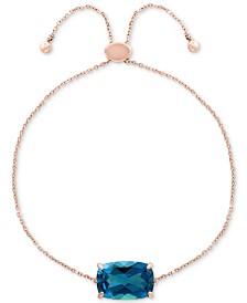 EFFY® Blue Topaz Bolo Bracelet (4-3/8 ct. t.w.) in 14k Rose Gold