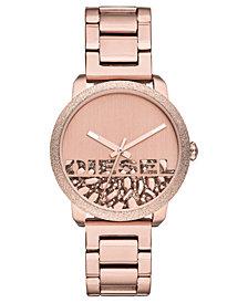Diesel Women's Flare Rocks Rose Gold-Tone Stainless Steel Bracelet Watch 38mm