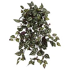"23"" Wandering Jew Hanging Artificial Plant, Set of 4"
