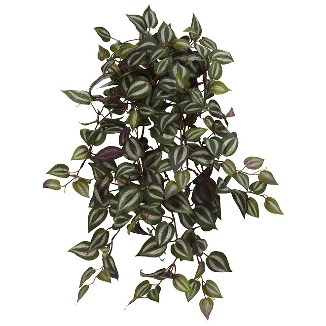 """Nearly Natural 23"""" Wandering Jew Hanging Artificial Plant, Set of 4"""