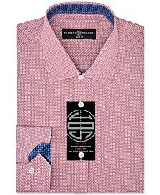 Men's Slim-Fit Non-Iron Performance Squared Dot Dress Shirt