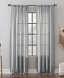 "Leno Weave Stripe Anti-Dust Curtain Panel, 52"" x 63"""